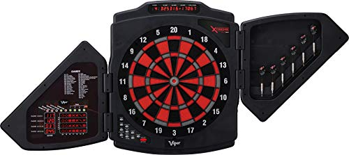 Viper X-Treme Electronic Dartboard, Modern Door Shield, Built In Dart Storage For 6 Darts, 4 Row Cricket Score Display And Overhead Display, Score Adjustment For Misses And Bounce Outs