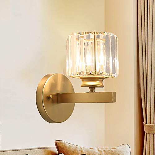 Aplique pared LED Luz de pared Metal, Lámpara de pared moderna industrial E27, Vaso hierro Apliques de Pared Dorado Creativa, para Salon Dormitorio Pasillo Escalera Baño Restaurante
