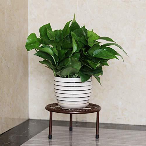 XWYHJ De una Sola Capa de Hierro Forjado Puesto de Flores salón Sencilla Estante del pote de Flor balcón y visualización de Bonsai Estable de pie 21 * 12cm (Color : Bronze, tamaño : Un tamaño)