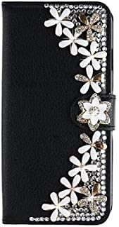 1 piece Dower Me DIY Fashion Bling Diamond Flower Butterfly Wallet Flip Leather Case Cover For iPhone X 8 7 6 6S Plus 5 5S SE 5C 4S