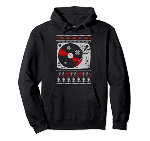 Christmas Ugly Sweater 1210 1200 - Plattenspieler Pullover Hoodie