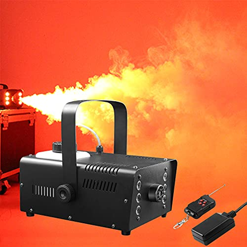 Smoke Machine, Smoke Machine for Parties,470000 Mixed Color 6 LED Fog Machine With Lights,1200W Mini for, Halloween…