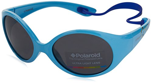 Polaroid PLD 8010/S Y2 MIF Gafas de sol, Turquesa (Azure/Grey Pz), 47 Unisex Niños