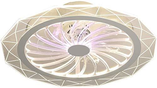 DULG Ventilador de techo moderno con luz, atenuación infinita, ventilador de techo con iluminación, luz LED, lámpara de ventilador de velocidad del viento ajustable, luz de ventilador de 42 W para hab