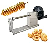 CGOLDENWALL Manual Tornado Potato Slicer Twisted Potato Slicer Spiral Potato Cutter Vegetable Cutter Cutting Machine (Full Stainless Steel Body)