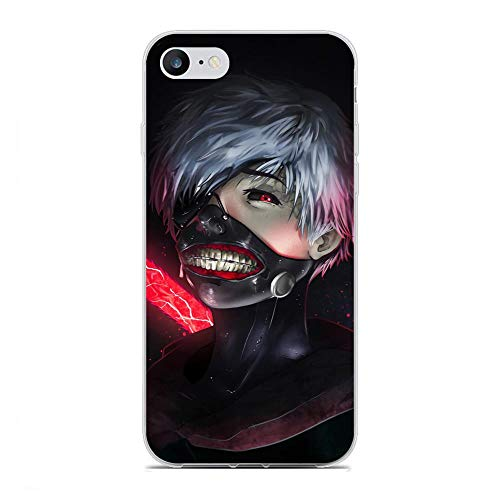 SHUAIJA Thin Clear Coque Transparent Soft Slim TPU Crystal Case Cover For Apple iPhone 7/8/SE 2020-Tokyo-Ghouls Kaneki-Ken 9