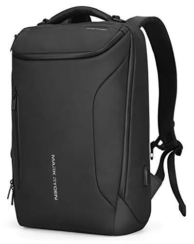 Mark Ryden Wasserdichter Business-Rucksack für Männer mit USB für Schulreisen Wanderrucksack für unter 17,3-Zoll-Laptop