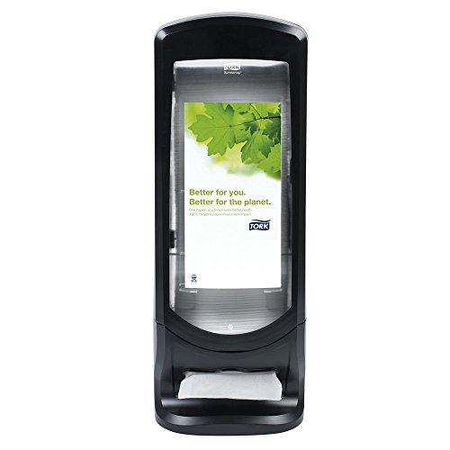 Tork SCA Tork 6332000 Xpressnap Signature Stand Napkin Dispenser, Black Licorice