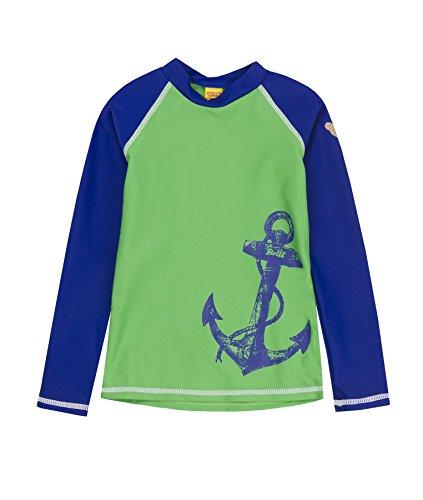 Steiff Sonnenschutzshirt 1/1 Arm 6837713 Vêtement de Bain, Grün (Classic Green 5114), 7 Ans Garçon