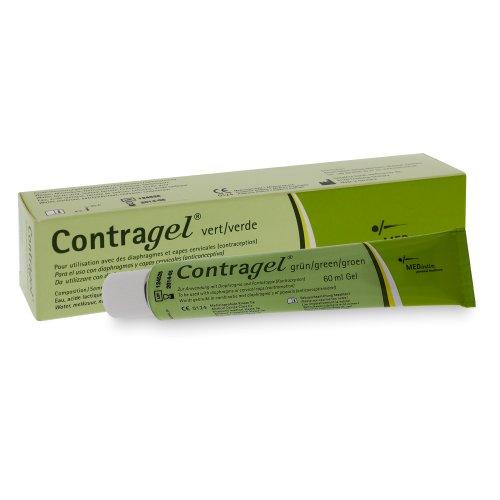 60ml Contragel ® verde, para su uso con el diafragma y el capuchón cervical