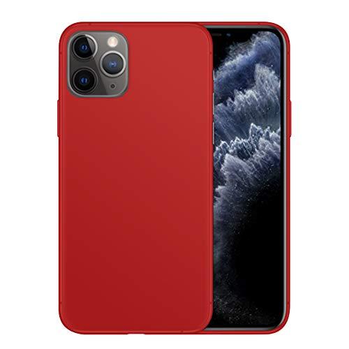 TBOC Funda de Gel TPU Roja para Apple iPhone 11 Pro [5.8 Pulgadas] Carcasa de Silicona Ultrafina y Flexible para Teléfono Móvil [No es Compatible con iPhone 11 - iPhone 11 Pro MAX]