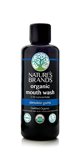 Organic Mouth Wash Concentrate by Herbal Choice Mari (3.4 Fl Oz Glass Bottle) - No Toxic Synthetic Chemicals