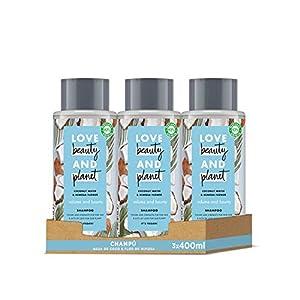 Love Beauty and Planet - Champú Agua de Coco & Flor de Mimosa Volume & Bounty, 3 x 400 ml