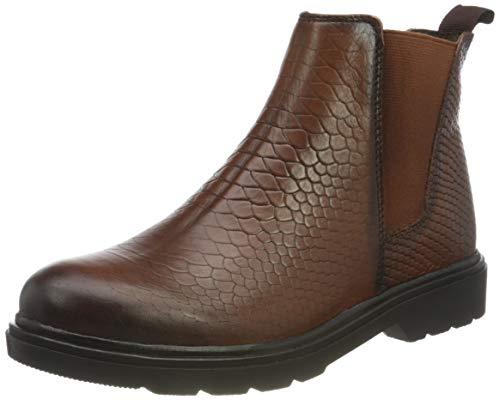 Marco Tozzi Damen 2-2-25488-25 Leder Chelsea Boot, Botas Estilo Mujer, Cognac Str, 41 EU