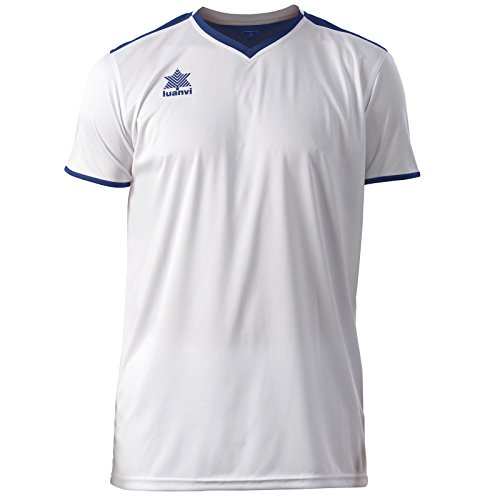 Luanvi Match Sport-Shirt, kurzärmelig, Herren, Weiß (0001), XS