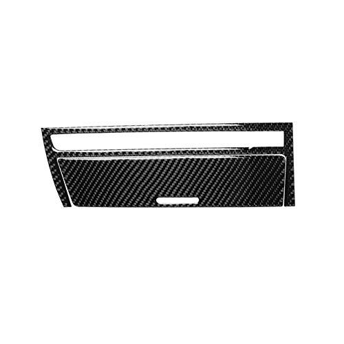 anel de fibra de carbono para consola de tablero de instrumentos de interior, caja de cambios, cenicero, marco de almacenamiento, calcomanía para BMW Serie 3 4ª 1998-2006