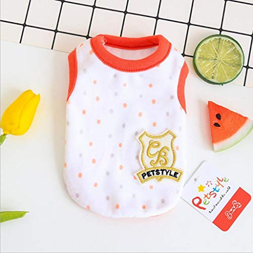 Mini Dog Vest Spring Summer Newborn Puppy Tiny Clothes for Kittens Pet...