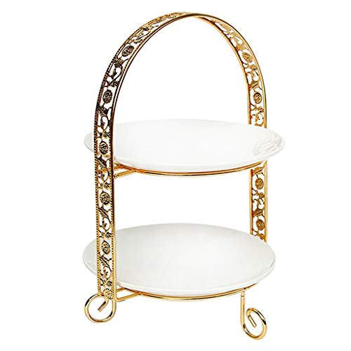 SHUUY Doppio Strato Metallo Cake Stand Arch-Shaped Display...