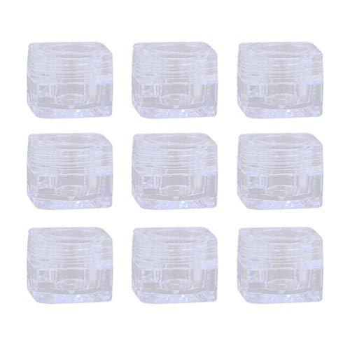 Minkissy 10Pcs Pots de Crème de Voyage Mini Conteneur de Crème Voyage Bouteilles de Cosmétique Conteneur de Maquillage