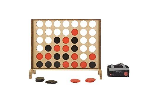 Mega groot - 4-op-een-Rij spel - Hardhout India - 115x82 cm