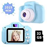 OMWay Gifts for Boys Age 3 4 5 6 7 8, 2019 Christmas Kids Digital Camera,Toys for Boys 4 5 6 7 8 Year Old,12MP HD Camcorders,Blue(32GB SD Card Included).