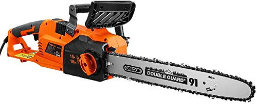 TACKLIFE Electric Chainsaw, 15A Corded Chainsaw, Straight Motor, 18IN Chain, 14M/S Speed, Self-Lubrication, Tool-Free Tensioning -GCS15B