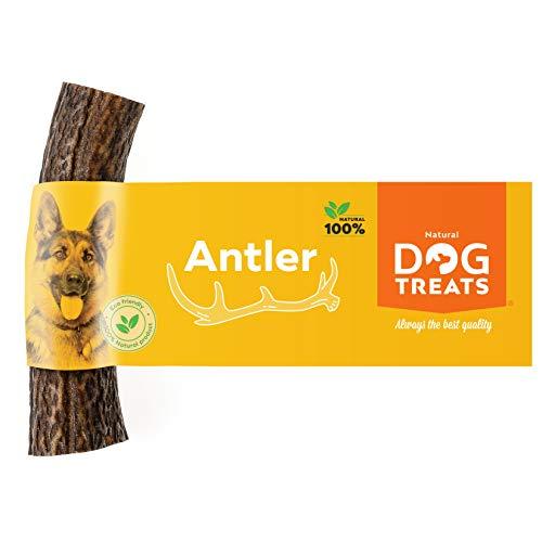 100% Natural Asta de Ciervo para Perro Cuerno Masticar Hueso Juguete, Tamaño Medium