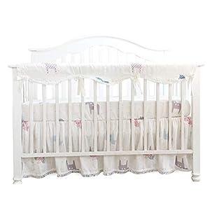 Sahaler Crib Rail Cover, Crib Protector from Chewing, Crib Rail Teething Guard, Crib Wrap for Nursery Baby Crib – Long Rail Cover x 1 -Trojan Horse