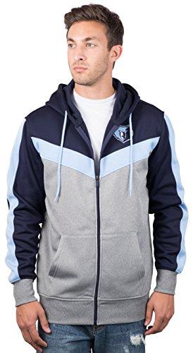 Ultra Game NBA Memphis Grizzlies Mens Soft Fleece Full Zip Jacket Hoodie, Team Color, X-Large