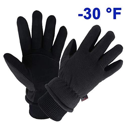 Warm Gloves for Snow Skiing Cycling Thermal for Men and Women (Small,Black)