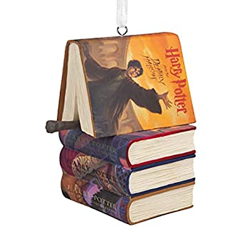 Harry Potter Exclusive Books and Wand Christmas Tree Ornament New 2021