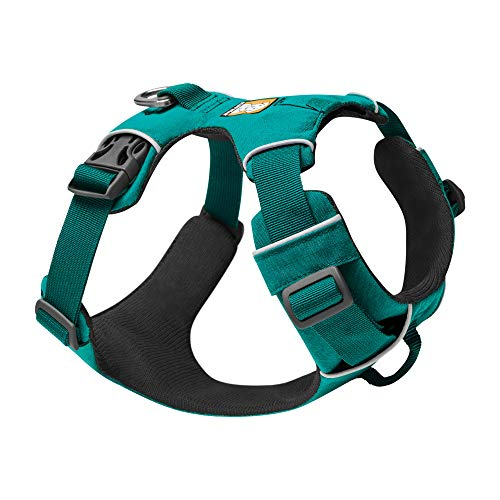 RUFFWEAR, Front Range Dog Harness, Reflective and Padded Harness for Training and Everyday, Aurora Teal, Small