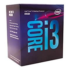 Intel UHD Graphics 630 Compatible only with Motherboards based on Intel 300 Series Chipsets Cores: 4, Threads: 4 3.60 GHz Base Frequency / 6 MB Cache Intel Optane Memory Supported System Ram Type: ddr4_sdram