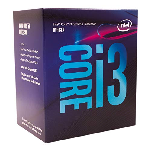 Intel Core i3-8100 Desktop Processor 4 Cores up to 3.6 GHz Turbo Unlocked LGA1151 300 Series...
