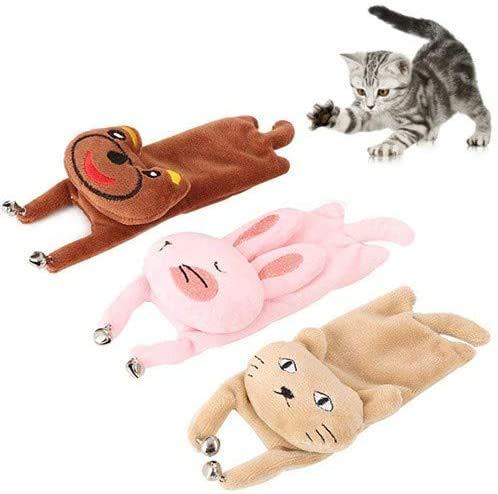 Wuudi Spielzeug mit Katzenminze,Katzen Spielzeug niedliche Katze Kaninchen Bär Minze Plüschtier mit Glocke zum spaß haben