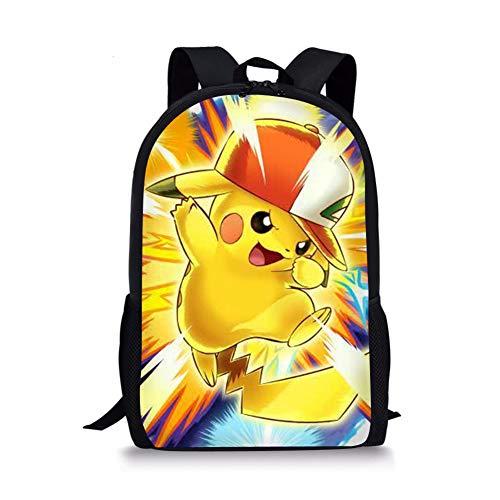 Anime Pokémon Sac à dos pour enfant Vintage Campus Pikachu Sac d