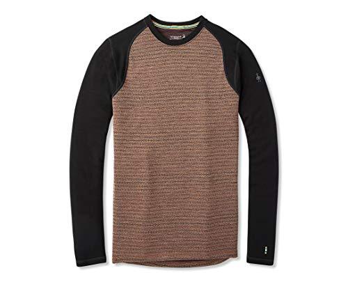 Smartwool Men's Base Layer Top - Merino 250 Wool Pattern Active Crew Bourbon TICK Stitch X-Large
