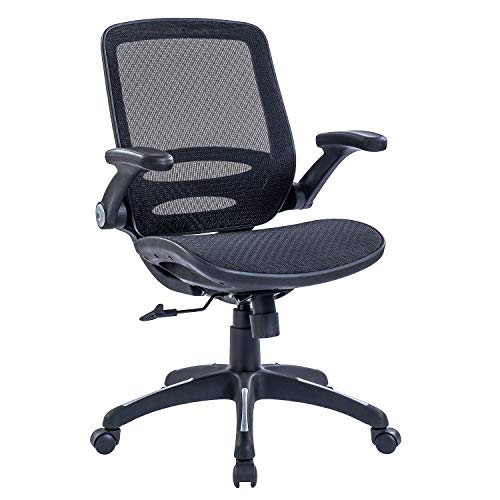 RYDESIGN Ergonomic Office Desk Chair with Flip-Up Arms, Breathable Full Mesh Mid-Back Home Desk Chairs, Swivel Computer Executive Task Chairs