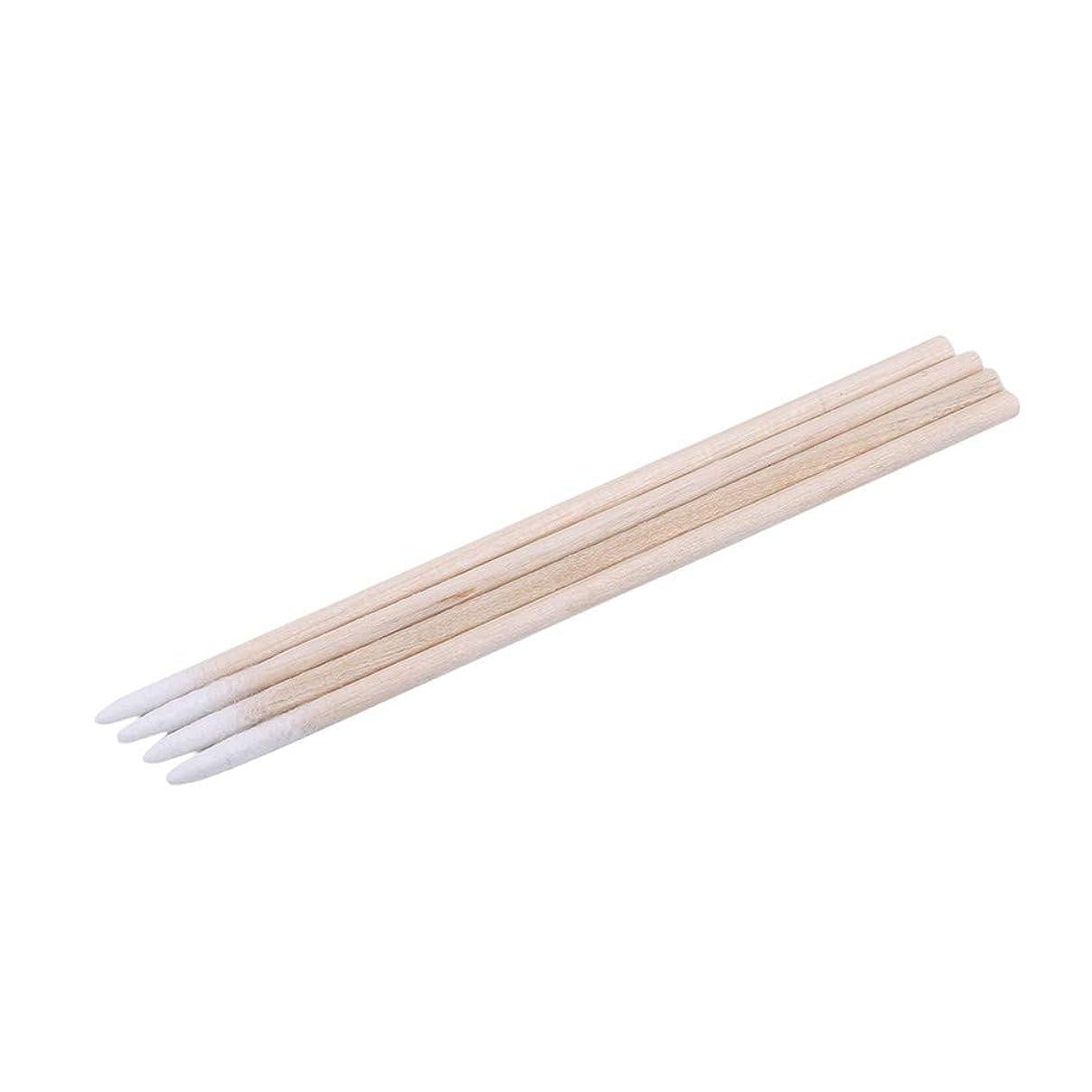 ペルセウス実行香ばしいLJSLYJ 300ピース木製ハンドル小さな先のとがったつま先ヘッド綿棒アイブロウ綿棒美容メイクカラーネイルステッチ綿棒ピッキング