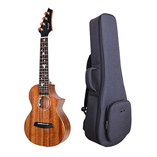 Enya EUC-M6 EQ Cutaway Acoustic Electric Concert Ukulele 23 Inch All Solid Mahogany with Beautiful Inlay and Gloss...
