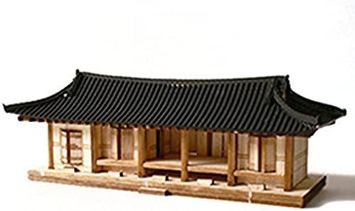 Desktop Wooden Model Kit Roof Tile Five-room   YG605. by Young Modeler