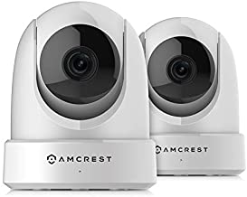 2-Pack Amcrest 4MP UltraHD Indoor WiFi Camera, Security IP Camera with Pan/Tilt, Two-Way Audio, Remote Viewing, Dual-Band 5ghz/2.4ghz, 4-Megapixel @~20FPS, Wide 120° FOV, 2PACK-IP4M-1051W (White)