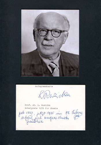 Leopold Ruzicka original Autogramm/Autograph/signiert