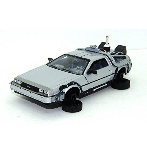 Welly - Regreso al Futuro II - Maqueta del Delorean LK Coupé 1981 con Ruedas voladoras (Escala 1:24)