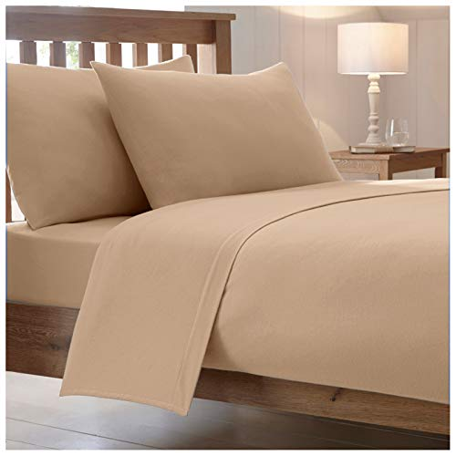 """25 Cm / 10"""" Inch Fitted Bed Sheets Luxury Combed Poly Cotton Non Iron..."""