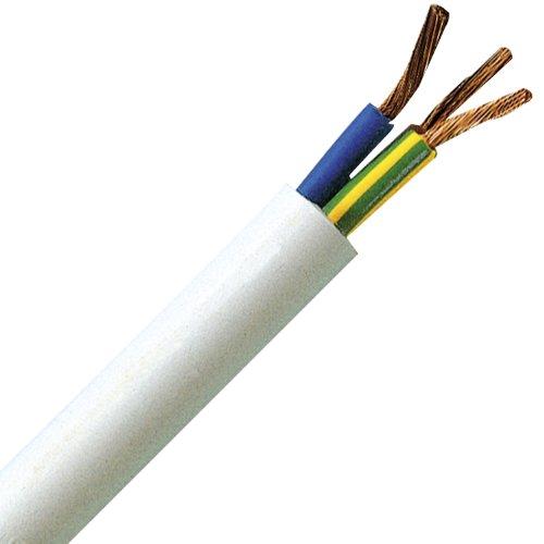 Kopp 151805840 Schlauchleitung H05 VV-F 3G, 1.5 mm², 5 m, weiß