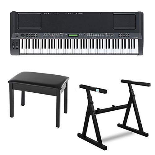 Find Discount Yamaha CP300 88-Key Graded-Hammer Stage Piano Bundle with Heavy Duty Z-Style Piano Sta...