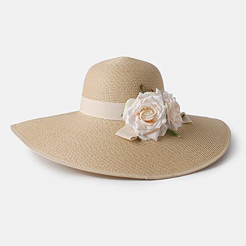 Women's hat FYXD - Sombrero de Paja de Verano para Mujer Sombrero...