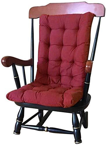 Butaca Cojín amortiguador de asiento de silla de jardín Cojín amortiguador trasero alto amortiguador trasero con lazos for sillas cojines for sillas de jardín y en el hogar suave espuma lavable 120 x