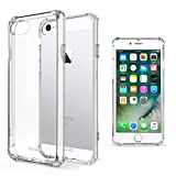 Moozy Funda Silicona Antigolpes para iPhone SE, iPhone 5s - Transparente Crystal Clear TPU Case Cover Flexible
